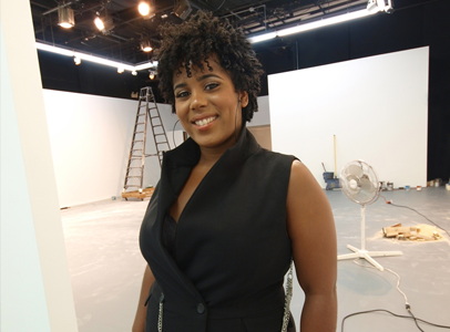 Rashida Bumbray in the studio